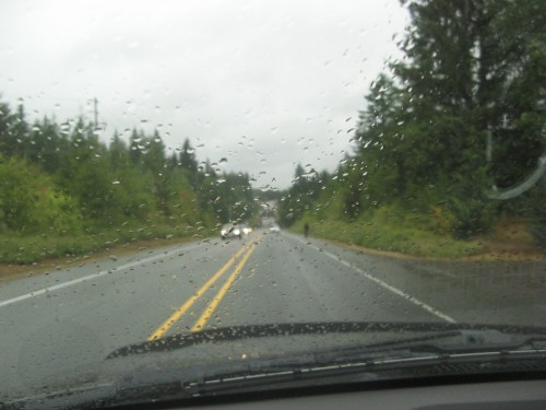 hwy 101 in the rain